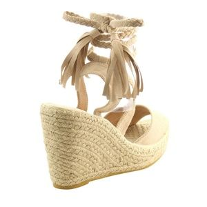 a4cdf99bafb5 Yoki Shoes - Women s Espadrille Braided Ankle Wedges